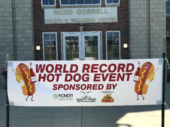 """University Of The Cumberlands Break World Record For """"Longest Line Of Hot Dogs"""""""