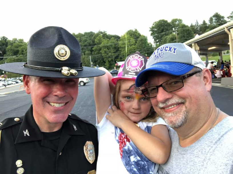 Dave And Alyss Take In London PD's National Night Out Event