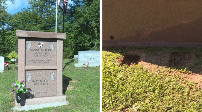 Police Looking For Thieves Who Stole Memorial To Former Deputy And Other Items From Clay County Cemetery