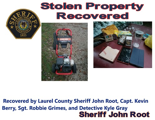 Laurel County Police Recover Stolen Items