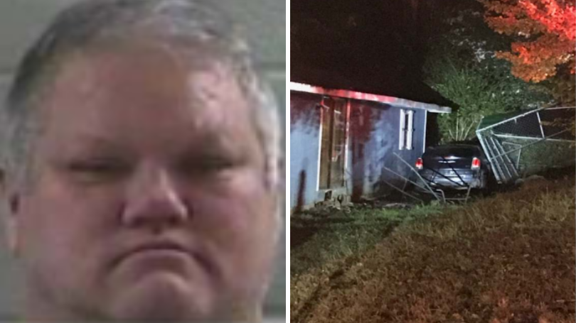 Man Arrested In Laurel County After Crashing Into House