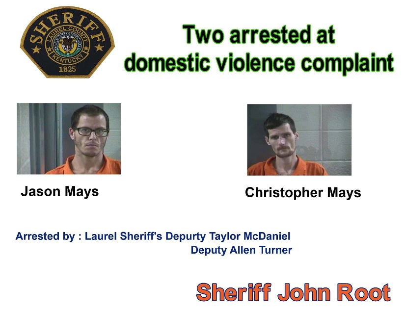 Laurel County Domestic Violence Call Leads To Two Arrests