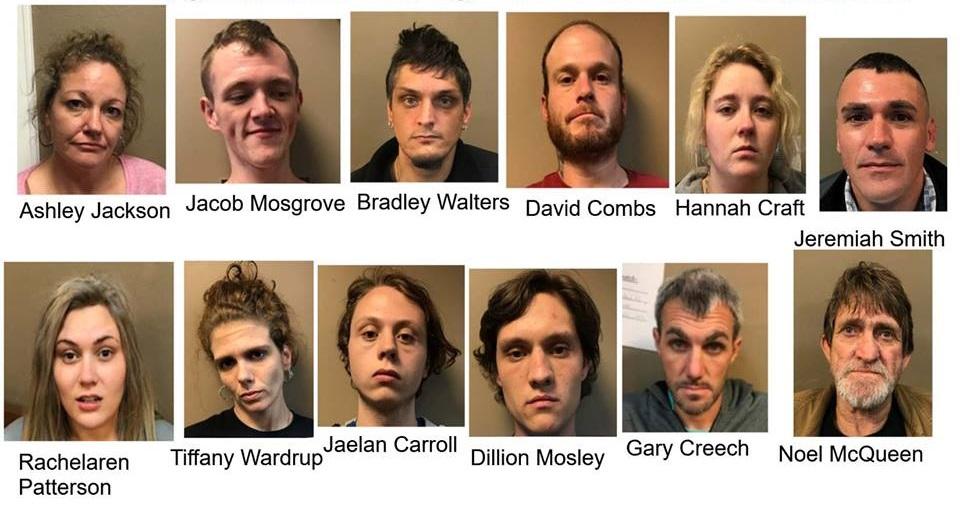 Laurel County Police Arrest 12 In Drug Bust