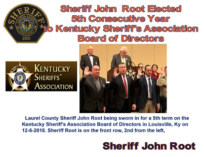 Sheriff Root Again Elected To Serve On Kentucky Sheriff's Board