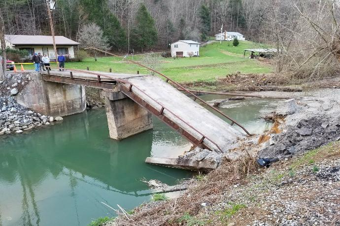 Perkins Branch residents get a way out after bridge collapse