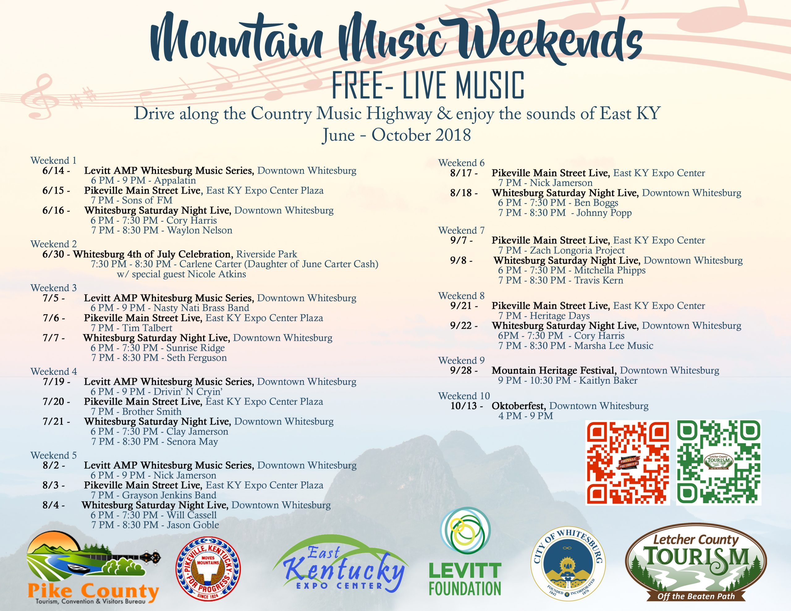 Mountain Music Weekends this summer in Letcher & Pike Counties!