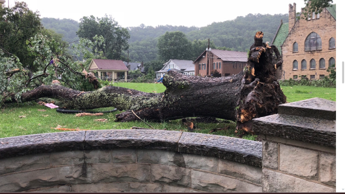 Paintsville storm damage caused by 80mph microburst straight line winds