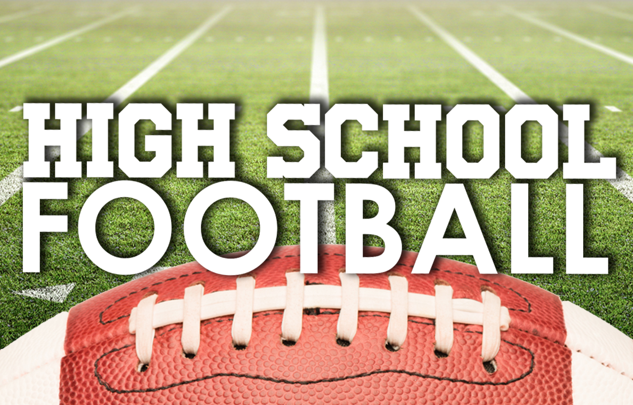 High School football schedule of games Friday 10-12-18