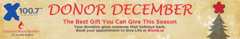 Feature: https://www.xreddeer.com/2018/12/01/donor-december-canadian-blood-services/