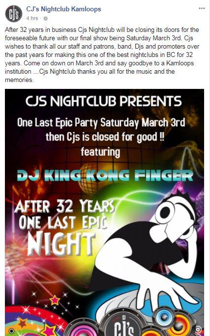 CJ's nightclub prepares to close its doors