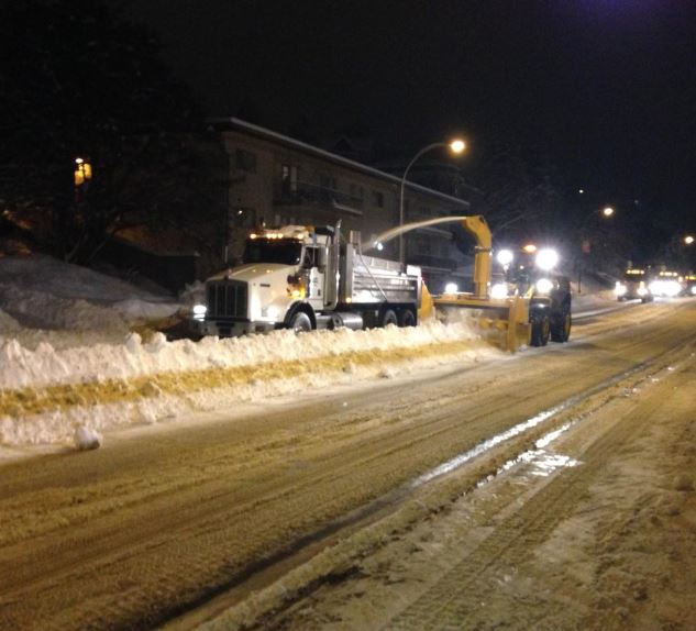 City snow removal work far from over