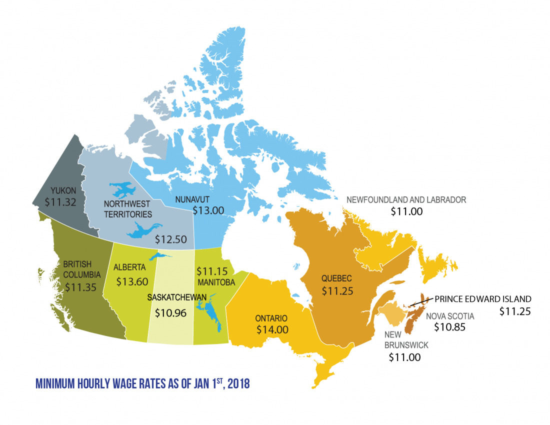 The province will hike the minimum wage in June