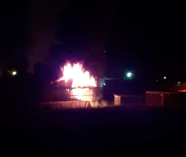 Kamloops firefighters began their day battling a barn fire
