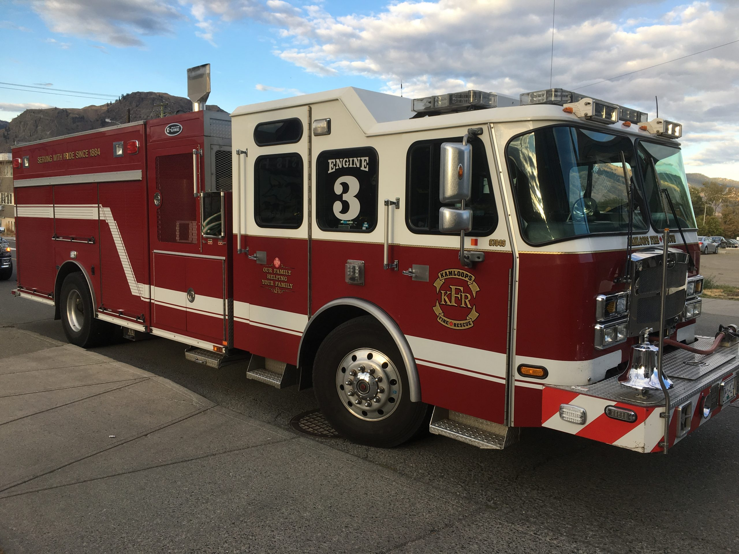 Kamloops Firefighters tackled an early morning fire