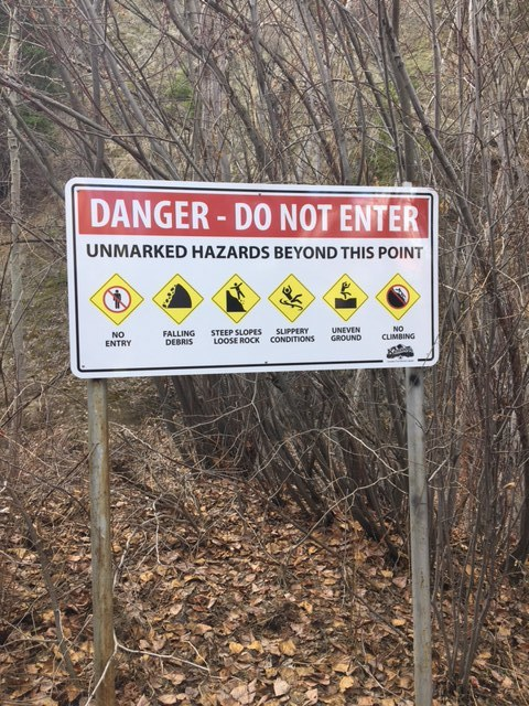 City of Kamloops has put extra warning signs for Peterson Creek hikers, after a record number of call outs