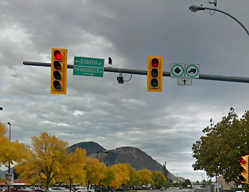 The only red light camera in Kamloops is being upgraded