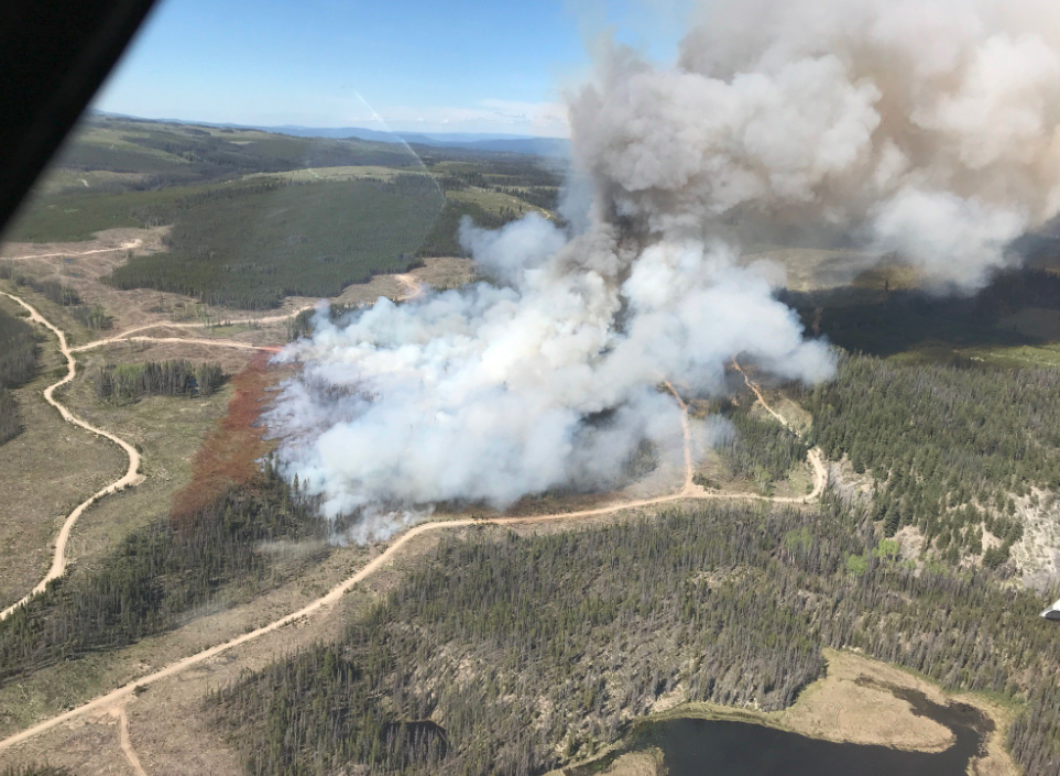 A new wildfire rears its head in the Kamloops Fire Centre
