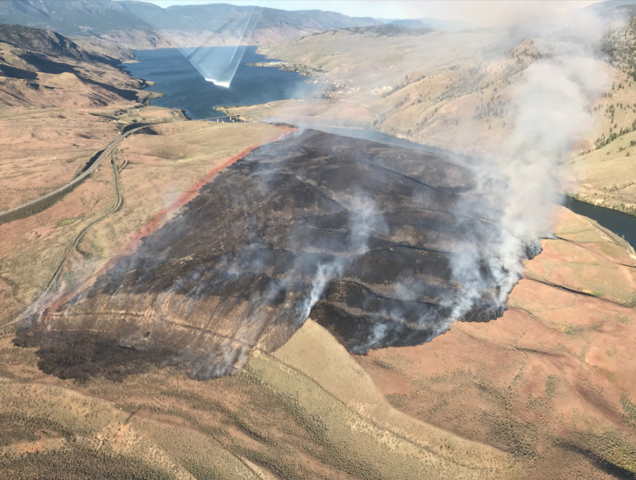 Another new wildfire has roared to life near Kamloops