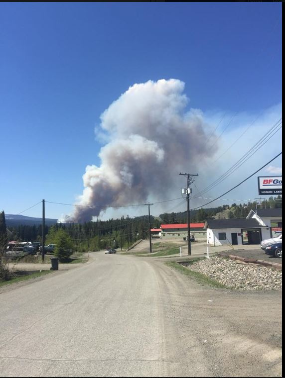 Logan Lake fire update