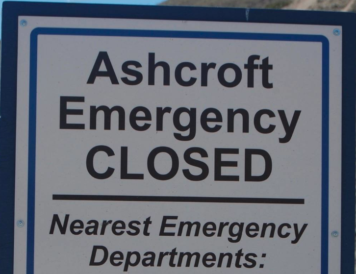 Staffing issues to close Ashcroft Hospital ER Sunday night