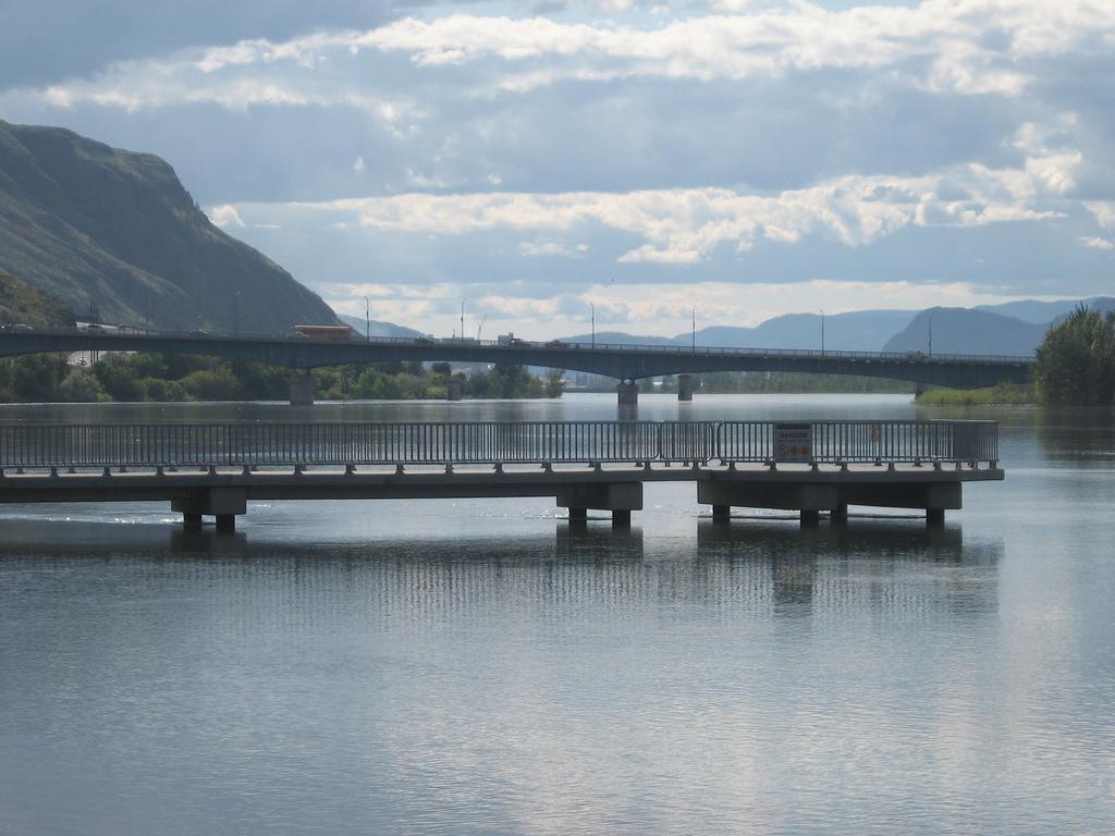 The pier at Riverside Park in Kamloops re-opened last night