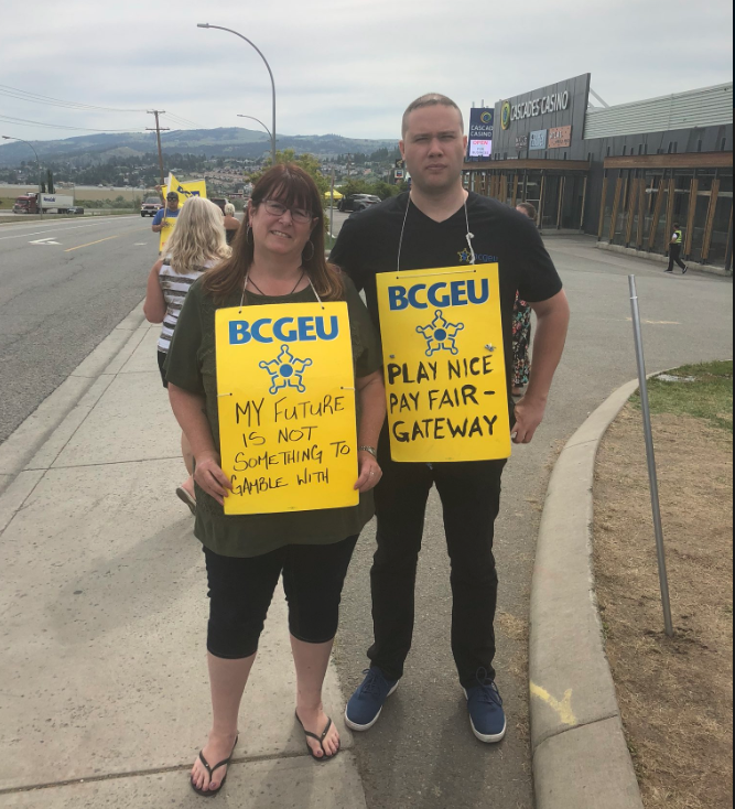 BCGEU President wants people to stop driving cars into striking casino workers