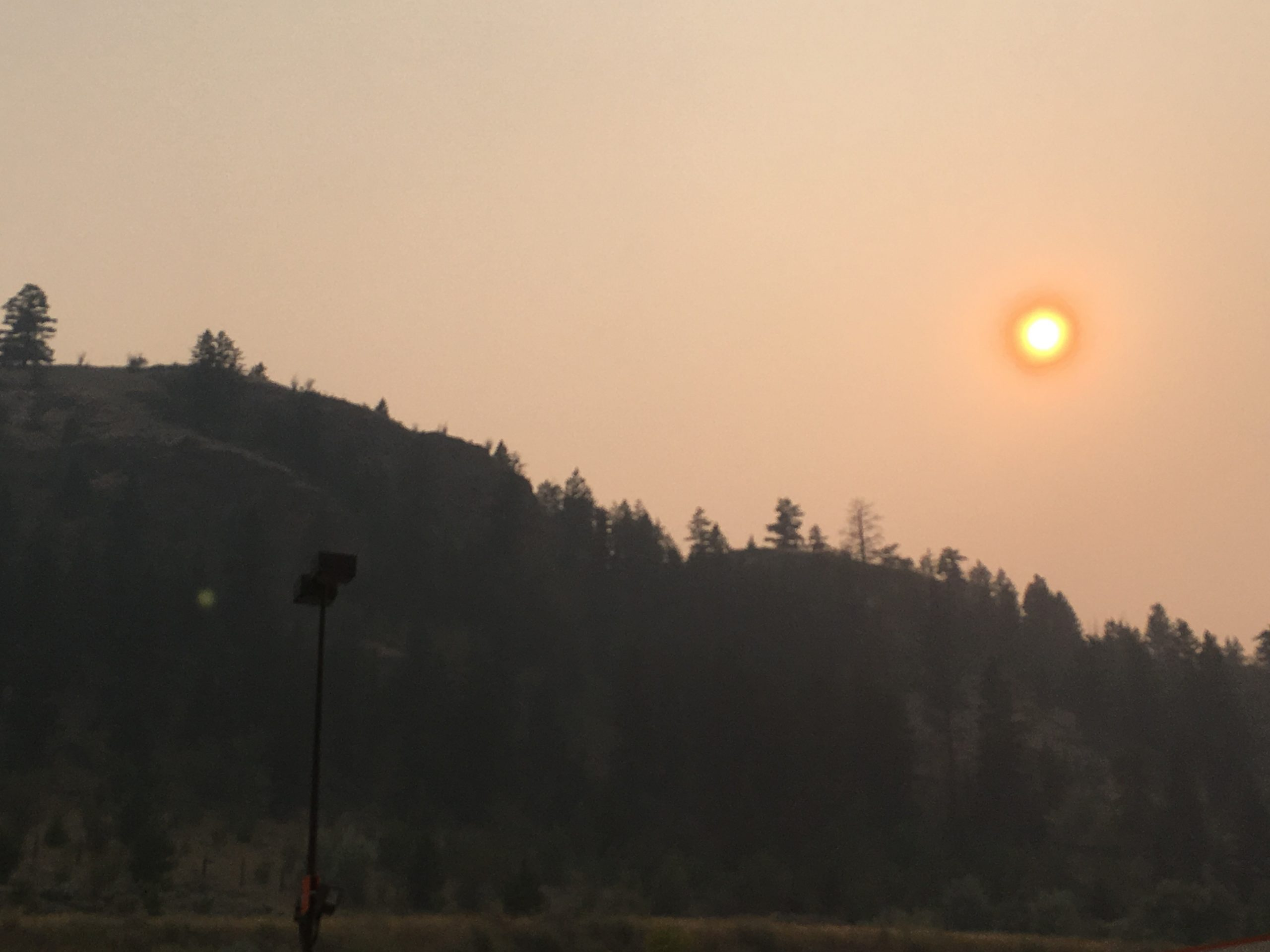 Environment Canada warning of smoke in the Kamloops area from the Spences Bridge wildfire