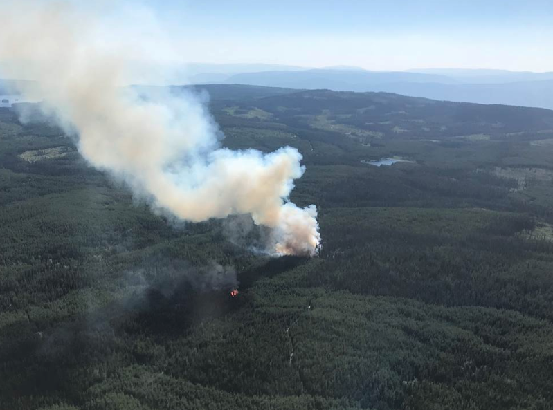 A new wildfire is burning near Clearwater