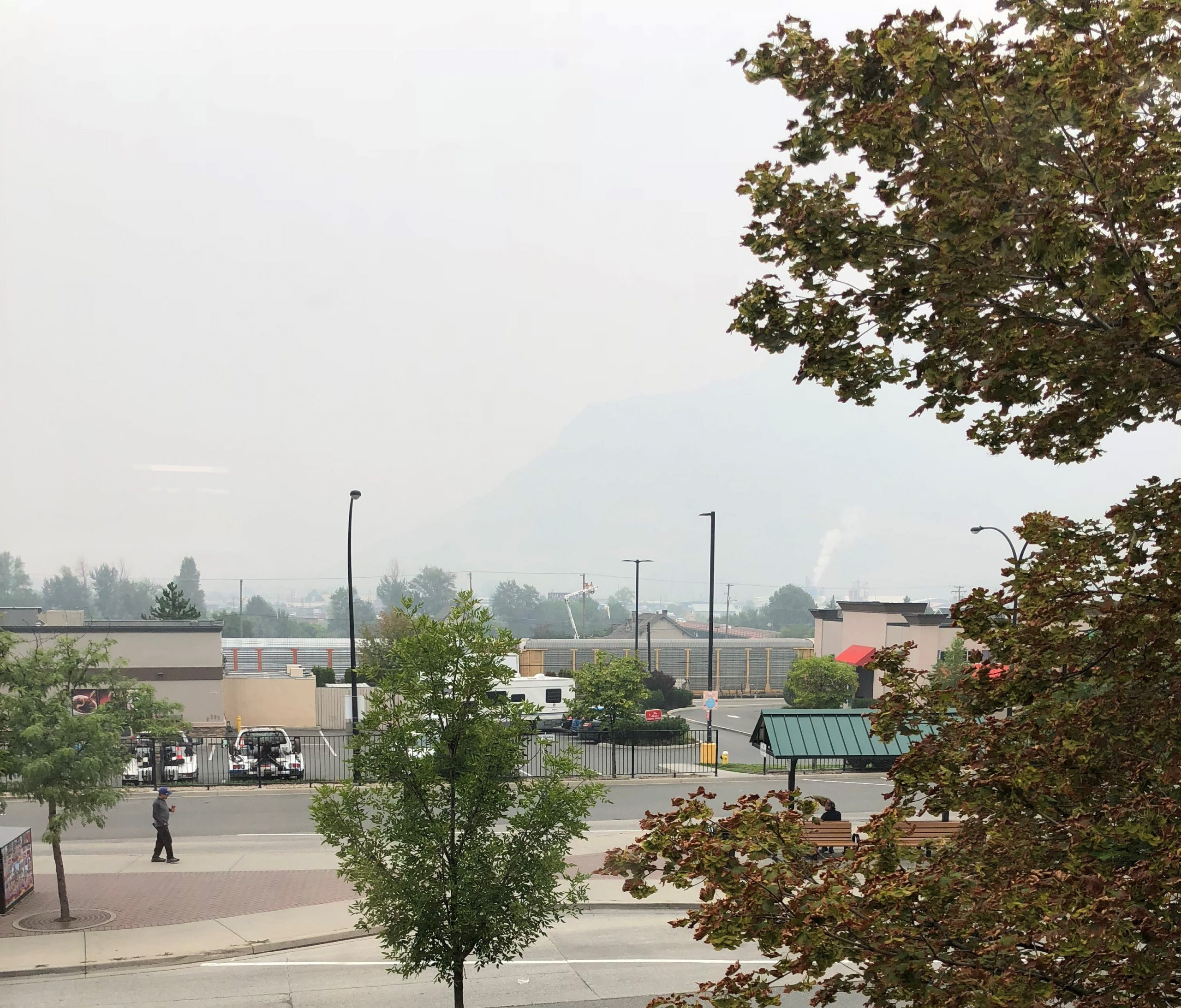 Smoke blanketing Kamloops will likely be around for the rest of the week