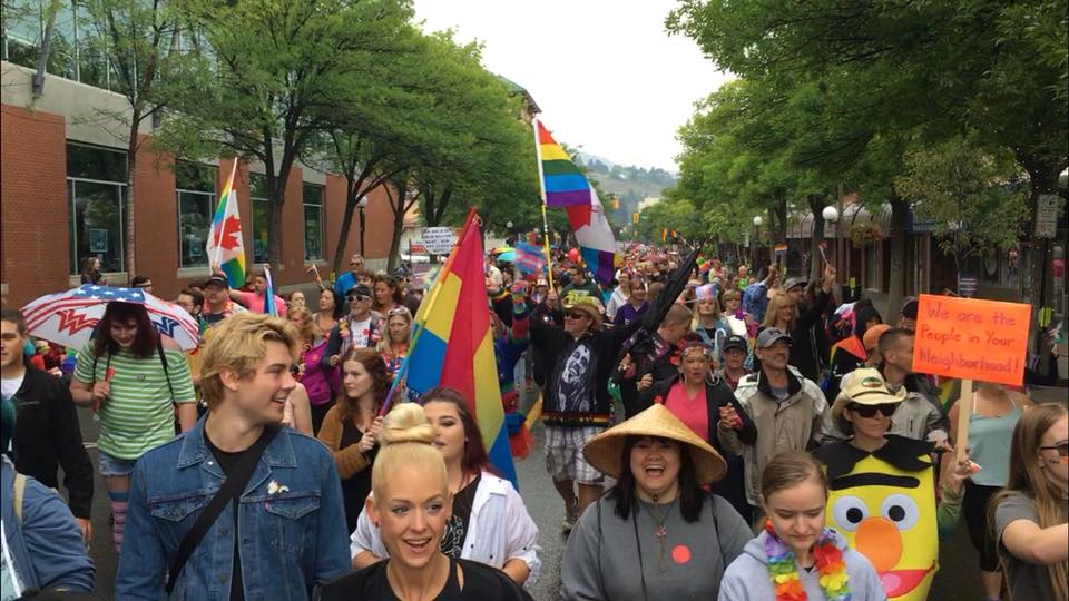 Organizers calling second annual downtown Kamloops Pride Parade a success