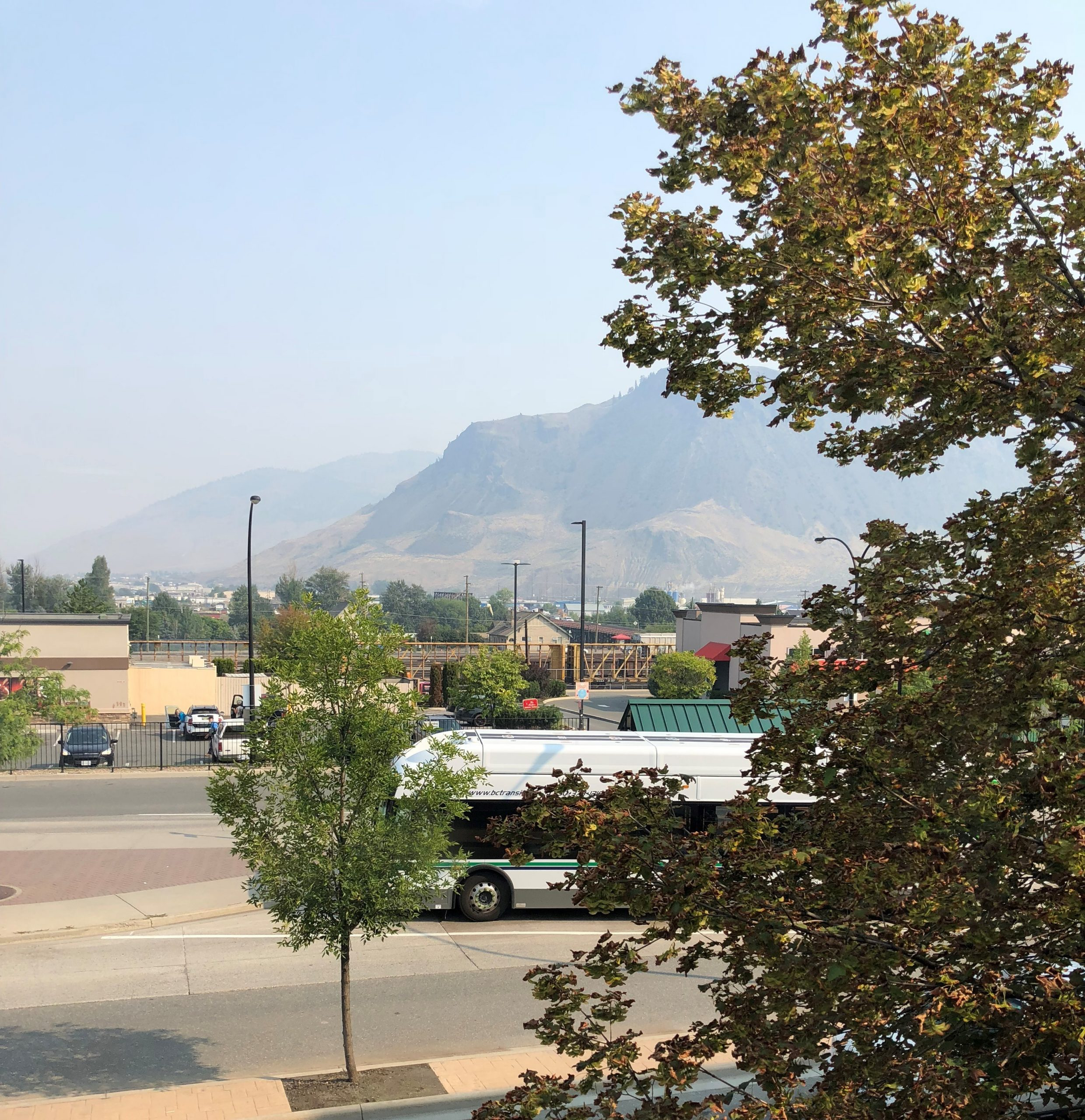 Air quality in Kamloops is now in the moderate range