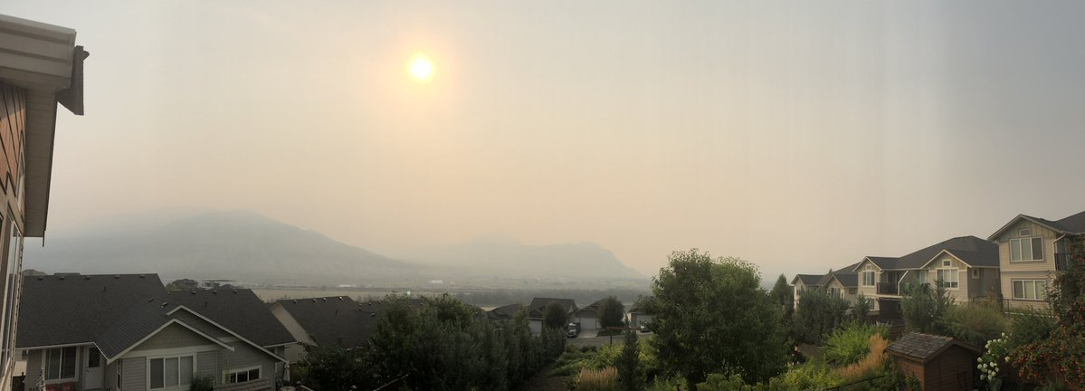 Smoke enveloping Kamloops coming from huge blazes in northern B.C