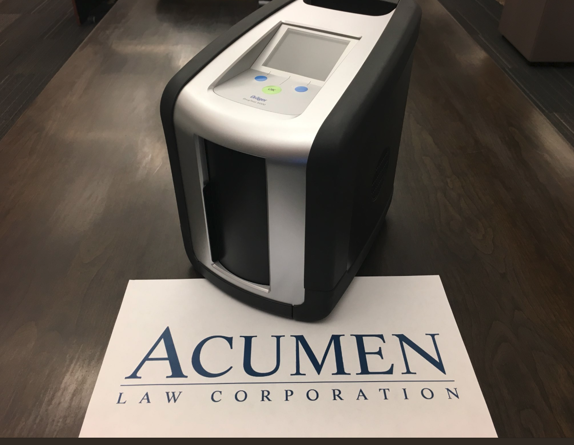 Acumen Law worries compound as they test new device to check for drugged drivers