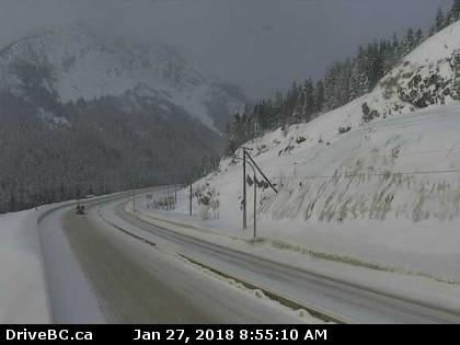 Winter comes early to the Coquihalla