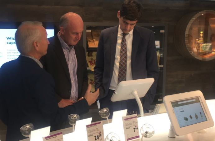 Two cabinet heavyweights get a first hand look at the Kamloops cannabis store