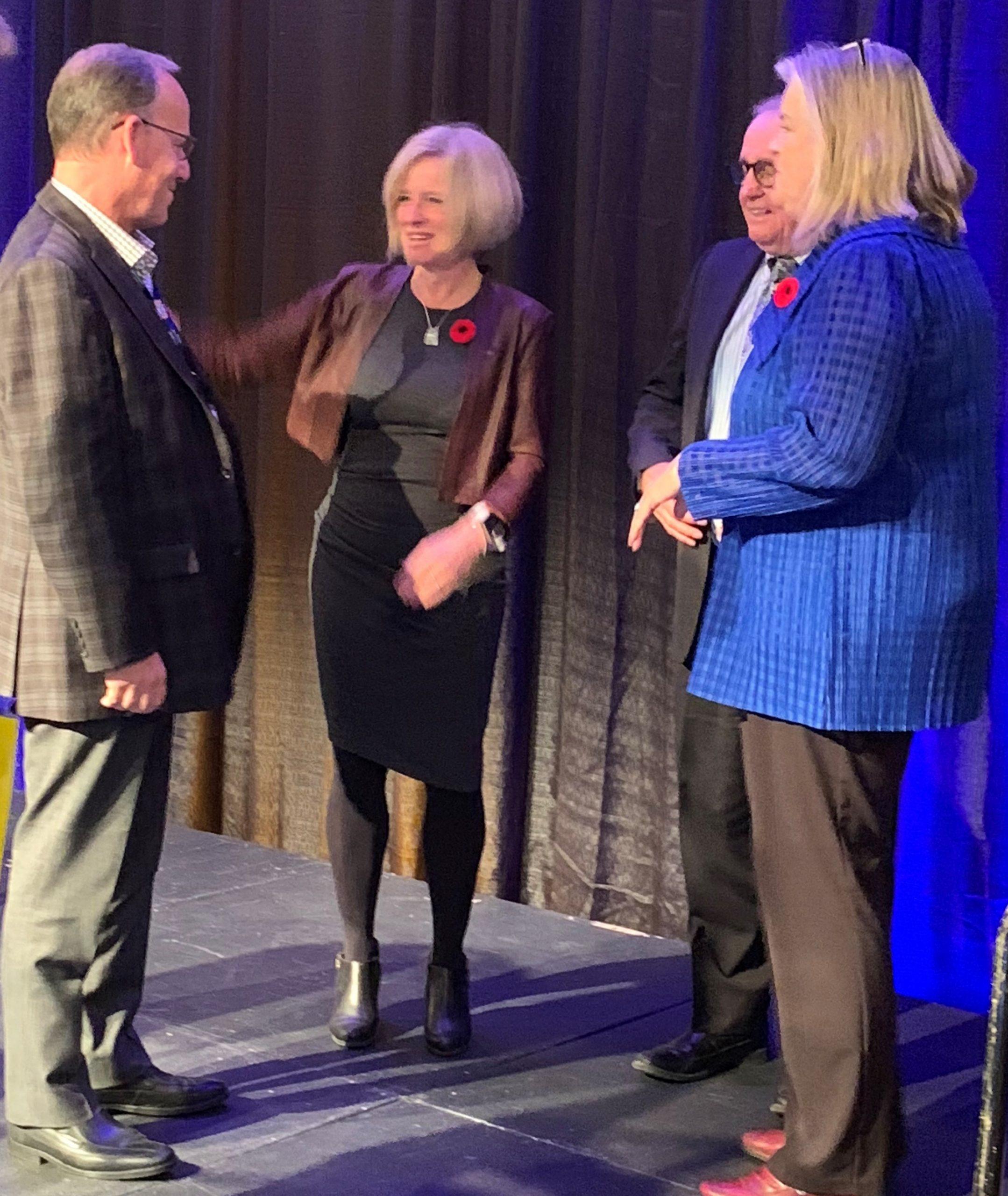 Alberta Premier Rachel Notley pitches Trans Mountain pipeline in Kamloops