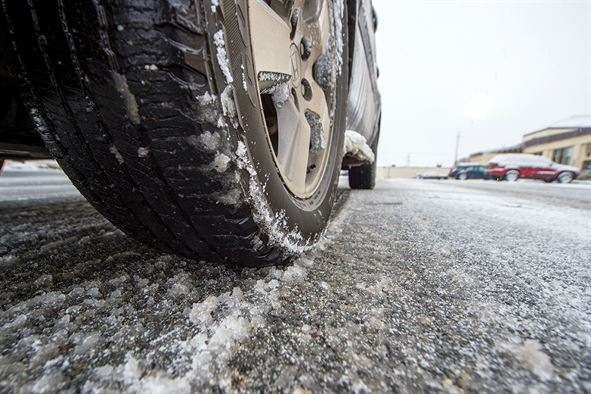 Winter tires mandatory on area highways starting today