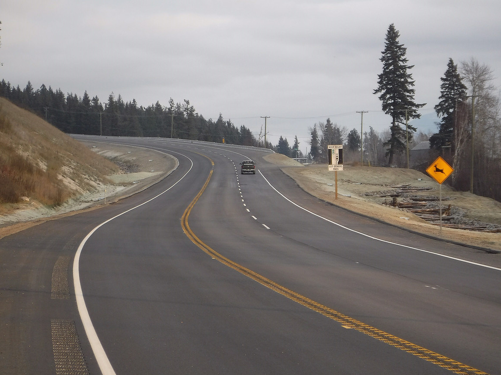 New passing lanes complete on Yellowhead Highway near Darfield
