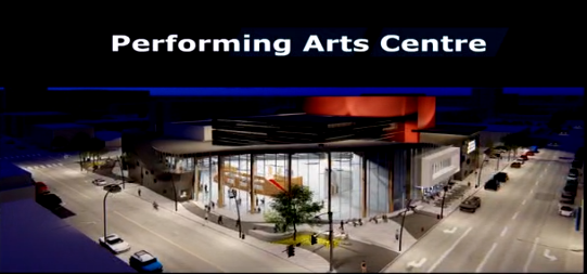 Plan For A New Downtown Performing Arts Centre Unveiled