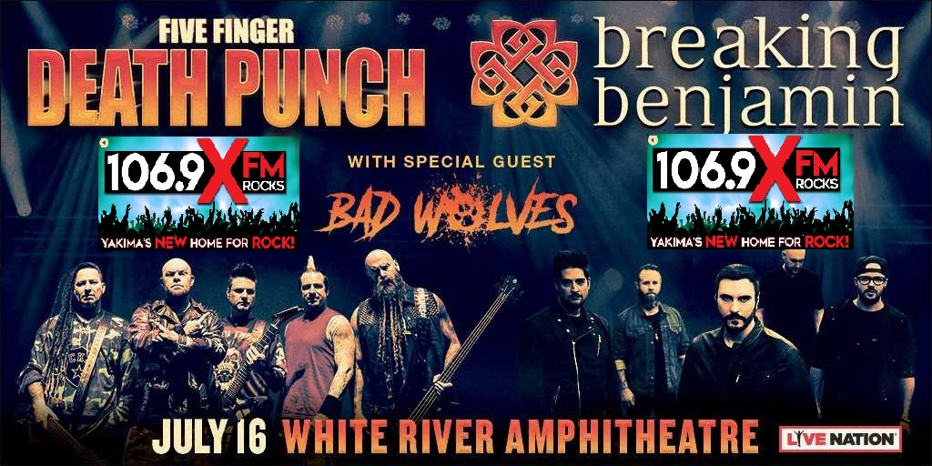 Feature: http://www.1069xfm.com/106-9-x-fm-welcomes-five-finger-death-punch-and-breaking-benjamin/