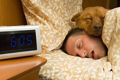 Does your dog sleep with you?