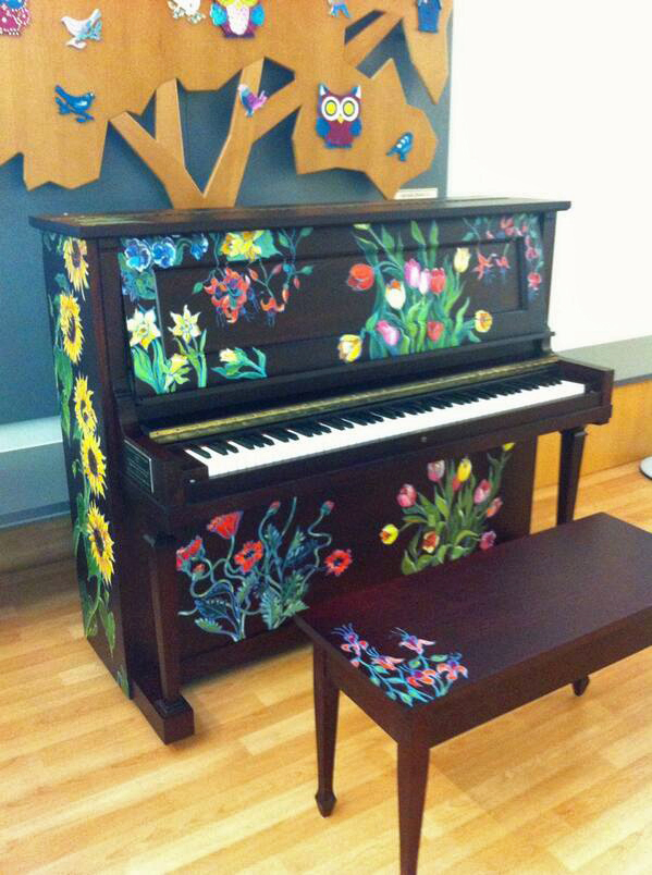Colourful piano for Cancer Centre - this Sunday