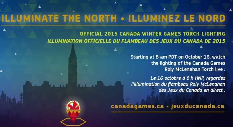 Official 2015 Canada Winter Games Torch Lighting