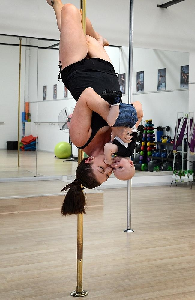 Mom and Baby Pole Dancing, Creative or Weird?