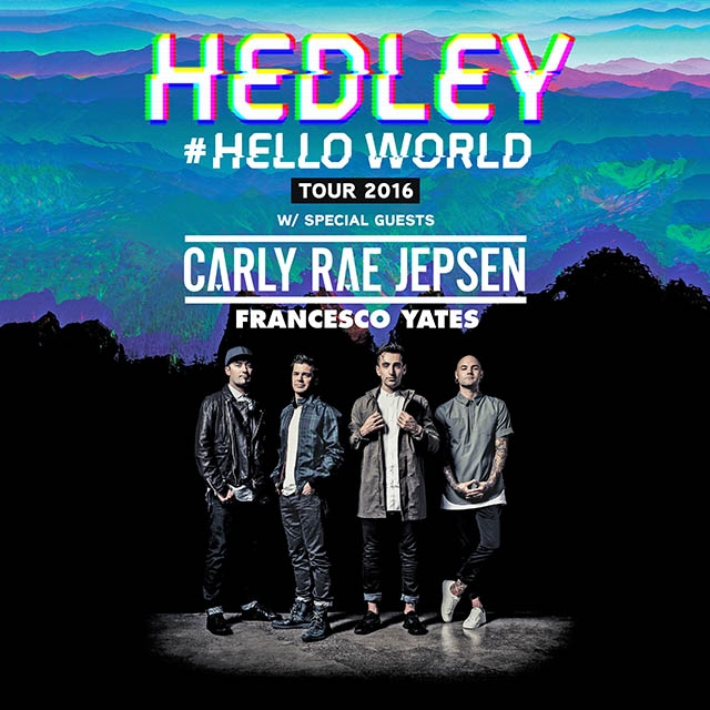 Hedley - Hello World - Tour - Prince George 5/16/16