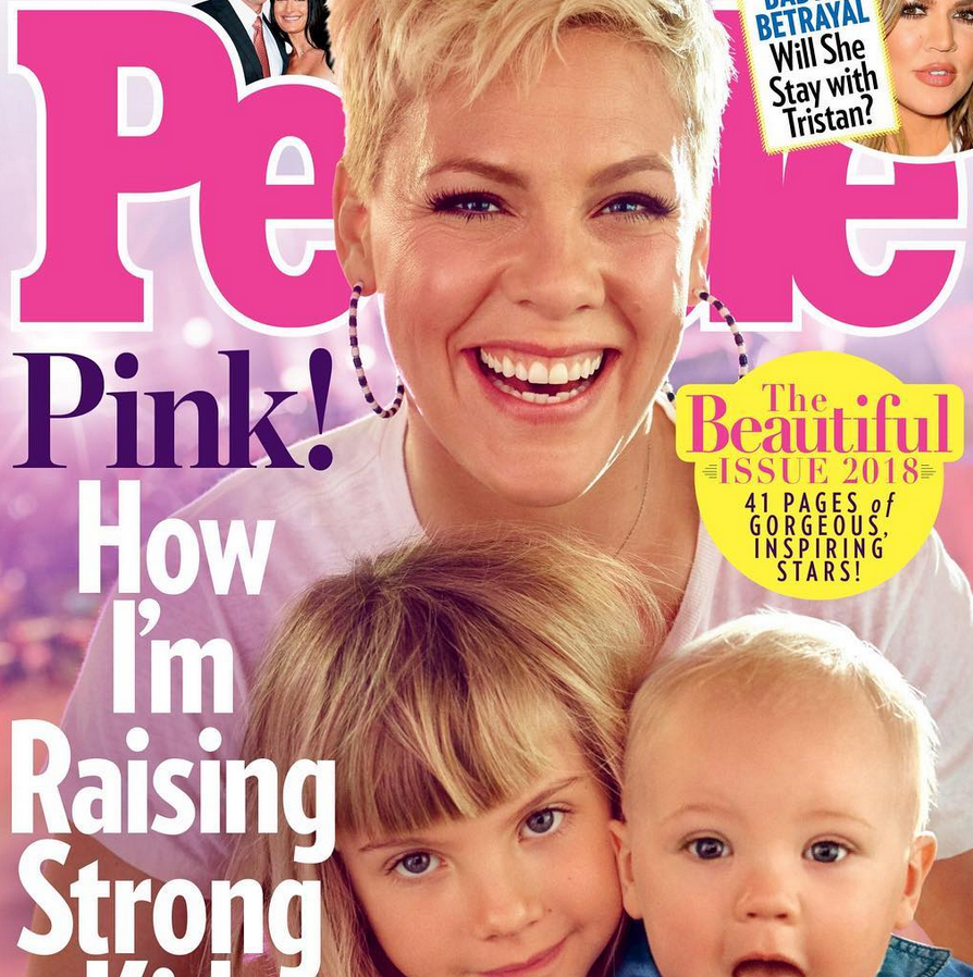Pink on the cover of People's 'Beautiful Issue'