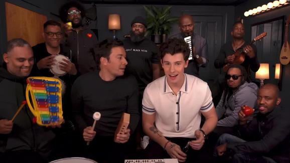 Shawn Mendes with Jimmy Fallon