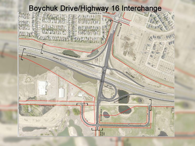 Boychuk Drive and Highway 16 Interchange Opens to Traffic Sunday