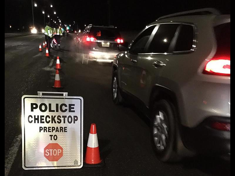 Stolen Vehicle Flees Check Stop