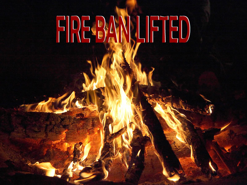 Some Fire Bans Lifted